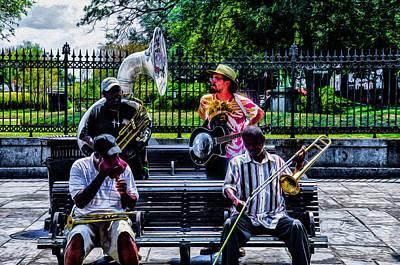 Nola Digital Art - New Orleans Jazz Band On Break by Bill Cannon