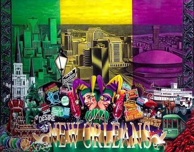 New Orleans Mardi Gras Art Print