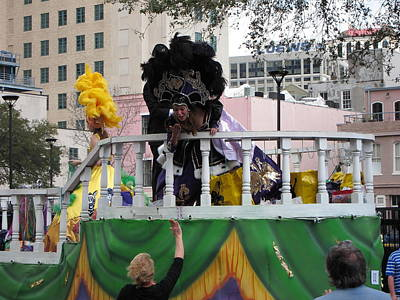 New Orleans - Mardi Gras Parades - 1212123 Art Print by DC Photographer