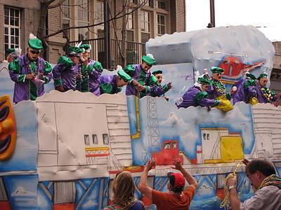New Orleans - Mardi Gras Parades - 1212129 Art Print by DC Photographer