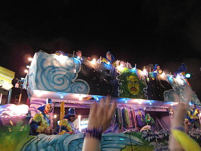 New Orleans - Mardi Gras Parades - 121245 Print by DC Photographer