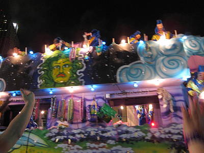 New Orleans - Mardi Gras Parades - 121246 Art Print by DC Photographer