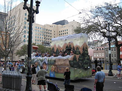 New Orleans - Mardi Gras Parades - 121289 Art Print