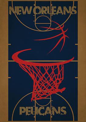 Orleans Photograph - New Orleans Pelicans Court by Joe Hamilton
