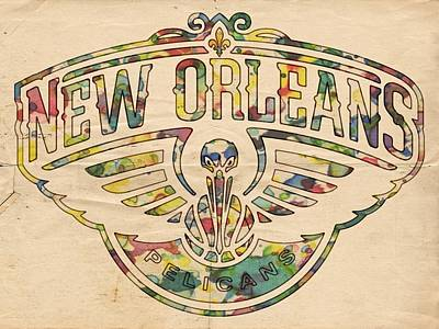 Painting - New Orleans Pelicans Poster Art by Florian Rodarte