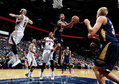Photograph - New Orleans Pelicans V Atlanta Hawks by Scott Cunningham