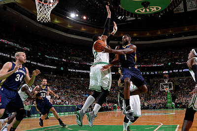 Photograph - New Orleans Pelicans V Boston Celtics by Brian Babineau