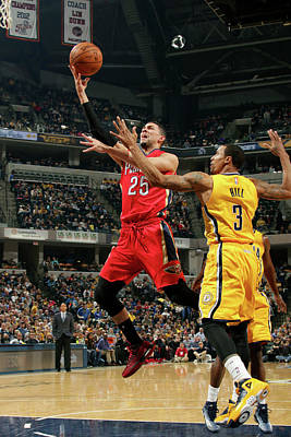 Photograph - New Orleans Pelicans V Indiana Pacers by Ron Hoskins