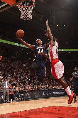 Photograph - New Orleans Pelicans V Toronto Raptors by Ron Turenne