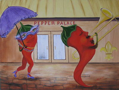 Painting - New Orleans Peppers by RJ McNall