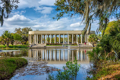 Metairie Photograph - New Orleans Peristyle  by Steve Harrington