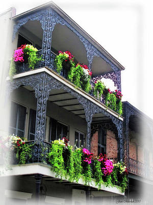 Digital Art - New Orleans Porches by Joan  Minchak