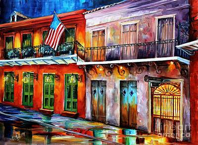 Night Lamp Painting - New Orleans' Preservation Hall by Diane Millsap