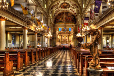 Photograph - New Orleans' Saint Louis Cathedral Interior by Greg and Chrystal Mimbs