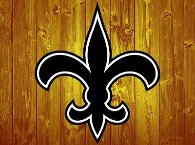 Champion Mixed Media - New Orleans Saints Barn Door by Dan Sproul