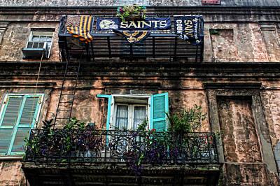 Photograph - New Orleans Saints Fan by Judy Vincent