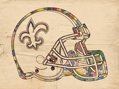 Painting - New Orleans Saints Logo Vintage by Florian Rodarte