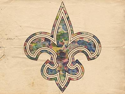 Sports Painting - New Orleans Saints Poster Art by Florian Rodarte