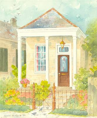 South Louisiana Painting - New Orleans Shotgun Cottage With Porch by Joyce Hensley