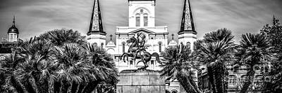 St Louis Square Photograph - New Orleans St. Louis Cathedral Panorama Photo by Paul Velgos