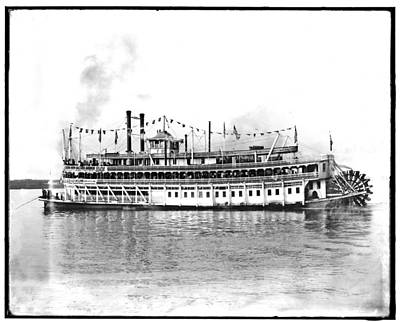 Steamboat Photograph - New Orleans  Steamship 1910 by Bill Cannon