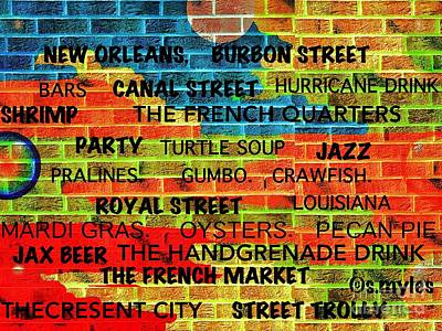 Digital Art - New Orleans Street Art by Saundra Myles