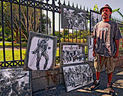 Artist Photograph - New Orleans Street Artist by Steve Harrington