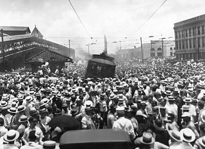Canal Street Photograph - New Orleans Street Car Strike by Underwood Archives
