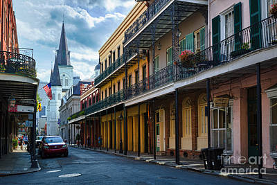 South Street Photograph - New Orleans Street by Inge Johnsson
