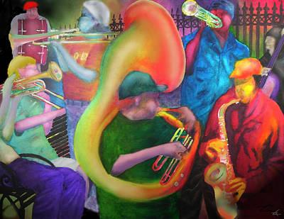 New Orleans Street Jazz Original by Larry Rice