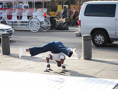 New Orleans - Street Performers - 121210 Art Print by DC Photographer