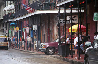 Photograph - New Orleans Street Scene by Frank Romeo