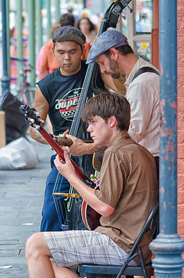 Photograph - New Orleans Street Trio by Jim Shackett
