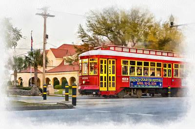 New Orleans Streetcar Paint Art Print by Steve Harrington