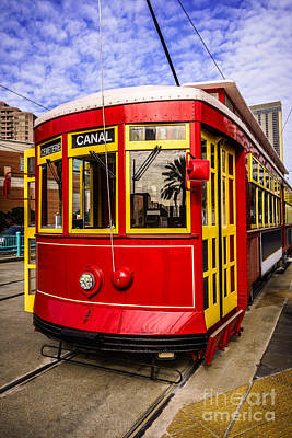 French Quarter Photograph - New Orleans Streetcar  by Paul Velgos