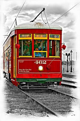 Comedian Drawings - New Orleans Streetcar vignette by Steve Harrington