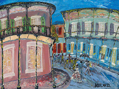 Painting - New Orleans Wedding by Kerin Beard