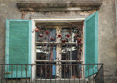 Photograph - New Orleans Window by Lorella  Schoales