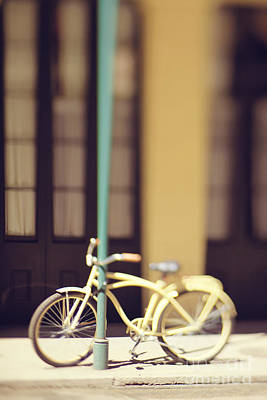 Photograph - New Orleans Yellow Bicycle by Heather Green
