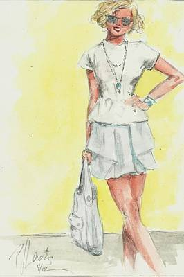 New Outfit Art Print by P J Lewis