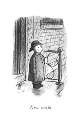 Montage Drawing - New Out?t by William Steig