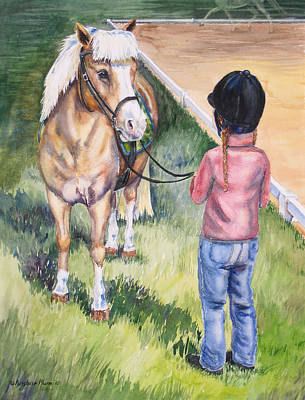 Dressage Art Painting - New Partners by Kristine Plum