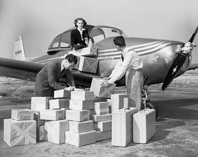 Time Stack Photograph - New Personal Aircraft by Underwood Archives