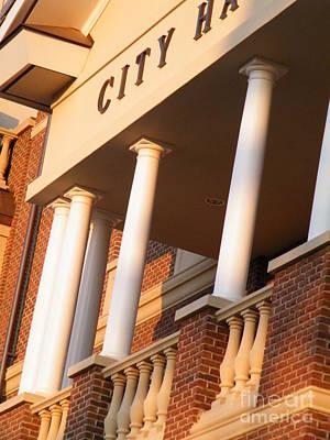New Perspective On City Hall Art Print by Cheryl Hardt Art