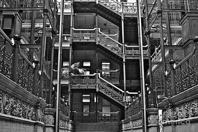 New Photographic Art Print For Sale Bradbury Building Downtown La Art Print