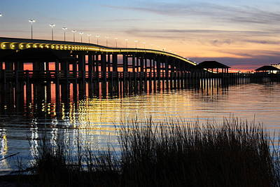 New Pier Sunset Print by Steve Phillips