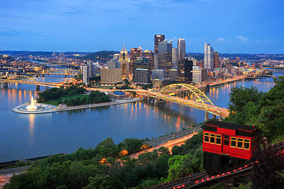 Pittsburgh Skyline Photograph -  Pittsburgh Summer  by Emmanuel Panagiotakis