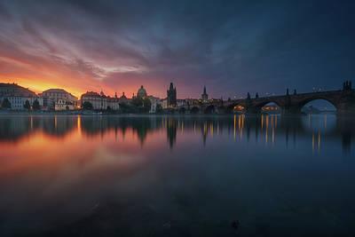 Old City Wall Art - Photograph - New Prague. by Juan Pablo De