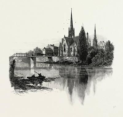 New Presbyterian Church, Galt, Canada Art Print