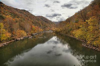 Photograph - New River Fall Reflections by Adam Jewell